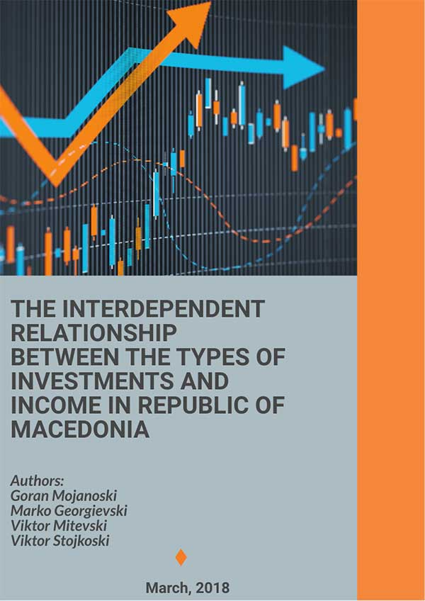 The interdependent relationship between the types of investments and income in Republic of Macedonia